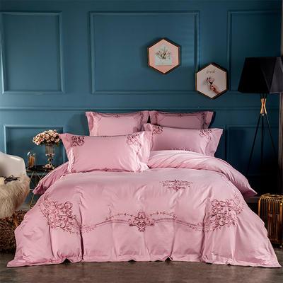 2019新款新款100支长绒棉居家系列四件套 1.5m床 克罗利亚玫瑰粉