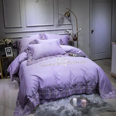 2019新款60支长绒棉 海蓝之谜-星光紫 1.5m床单款 海蓝之谜星光紫