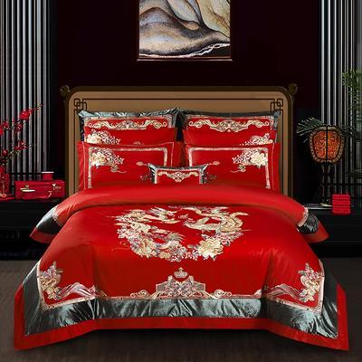 2020新款120支长绒棉高端婚庆工艺款多件套—盛世华妆 1.5m(5英尺)床 床单款四件套
