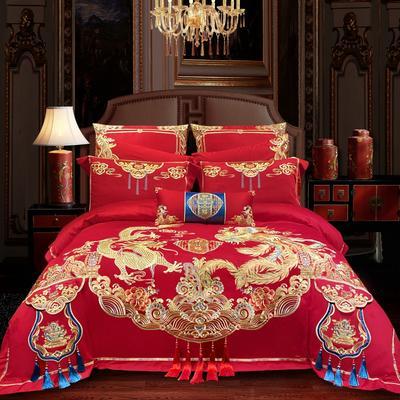 2020新款120支长绒棉高端婚庆工艺款多件套—海誓山盟 1.8m(6英尺)床 床单款四件套