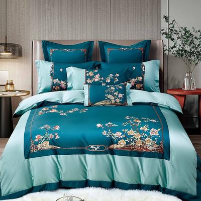 2021新款7居家-新款宝丽140支长绒棉全棉四件套 1.8m床单款四件套 格调绿