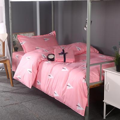 2019新款ins小清新三件套学生三件套宿舍三件套单人床三件套 1.2m(4英尺)床 挪威森林-粉
