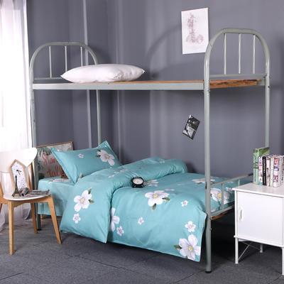 2019新款ins小清新三件套学生三件套宿舍三件套单人床三件套 1.2m(4英尺)床 滨芬花朵-绿