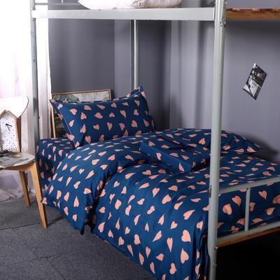 2019新款ins小清新三件套学生三件套宿舍三件套单人床三件套 1.2m(4英尺)床 心相恋