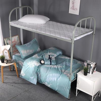 2019新款ins小清新三件套学生三件套宿舍三件套单人床三件套 1.2m(4英尺)床 夜未央-绿