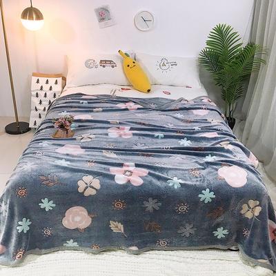 2019新款雪花绒毛毯小被子毛毯懒人毯午睡空调休闲床单盖毯夏季 200cmx230cm 太阳花
