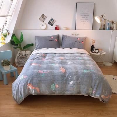 2019新款-加厚雪花绒毛毯被子珊瑚绒午睡毯冬季法兰绒床单学生宿舍毯子床品 200cmx230cm 恐龙乐园