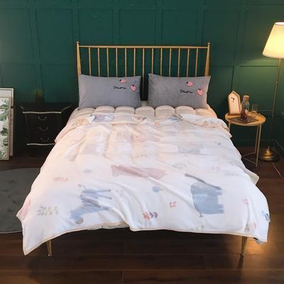 2019新款-加厚雪花绒毛毯被子珊瑚绒午睡毯冬季法兰绒床单学生宿舍毯子床品 200cmx230cm 瓯海风情