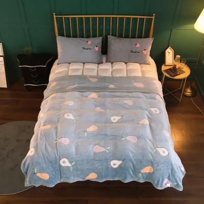 2019新款-加厚雪花绒毛毯被子珊瑚绒午睡毯冬季法兰绒床单学生宿舍毯子床品 200cmx230cm 水果交汇