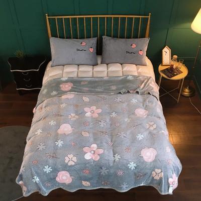 2019新款-加厚雪花绒毛毯被子珊瑚绒午睡毯冬季法兰绒床单学生宿舍毯子床品 200cmx230cm 太阳花