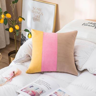 2019新款-麂皮绒抱枕(款式一) 45*45套子 阳光生活