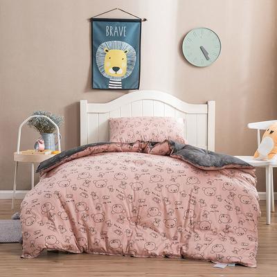 2019新款60支贡缎长绒棉冬被被芯 120x150cm  3斤 粉色小熊