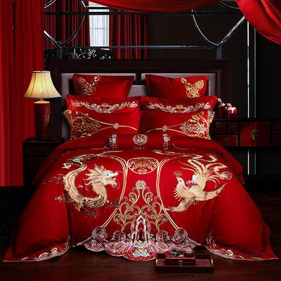 2019新款40s全棉133726刺绣婚庆多件套 1.5m-1.8m六件套(床单式) 爱的见证