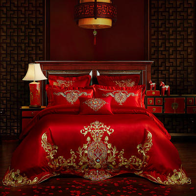 40s   13376婚庆多件套 1.5m-1.8m六件套(床单式) 巴黎恋人