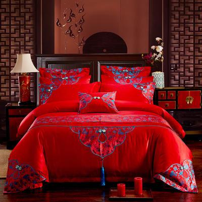 17年特价活动款婚庆四件套多件套 1.5m-1.8m六件套(床单式) 十里红妆