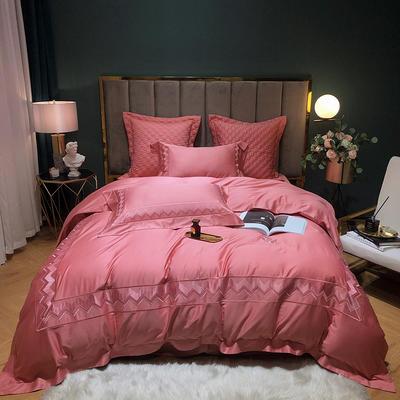 2020新款-纪梵希60S长绒棉四件套 床单款四件套1.8m(6英尺)床 豆沙