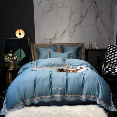 2020新款-60S长绒棉莉亚时尚四件套 1.8m床单款四件套 羽甘蓝