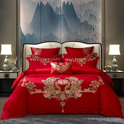 2020新款-40s新中式婚庆多件套 1.5m床-1.8m床四件套床单式 欢天喜地