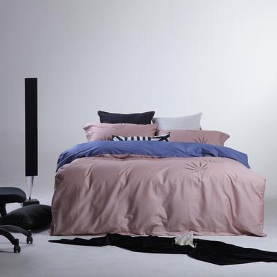 2019新款60长绒棉简约北欧肌理纹四件套 1.8m(6英尺)床 奥德莱