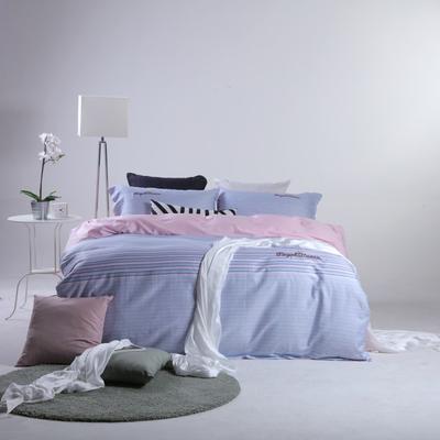 2019新款60长绒棉简约北欧肌理纹四件套 1.8m(6英尺)床 简约记忆
