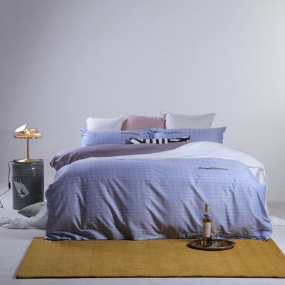 2019新款60长绒棉简约北欧肌理纹四件套 1.8m(6英尺)床 漫克