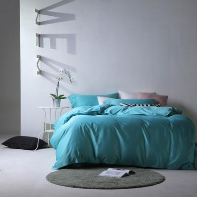 2019新款60S长绒棉纯色四件套 1.8m(6英尺)床 贵族绿