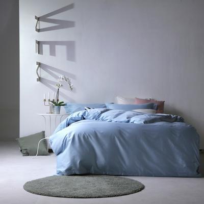 2019新款60S长绒棉纯色四件套 1.8m(6英尺)床 浅蓝