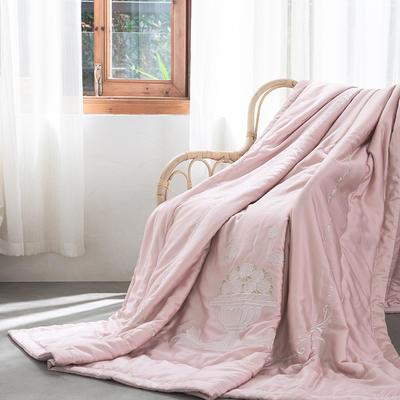 2019新款60天丝新款夏被-花团锦绣 200X230cm 粉色