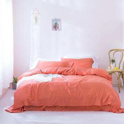 2019新款60S长绒棉纯色四件套 2.0m(6.6英尺)床 富贵橙