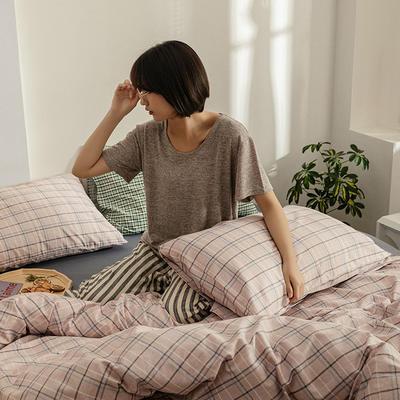 2020新款简约全棉13372系列单枕套 48cmX74cm/对 不染