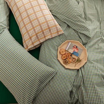 2020新款简约全棉13372系列单枕套 48cmX74cm/对 绿色
