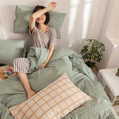 2020新款简约全棉13372系列单床单 230cmx250cm 绿色