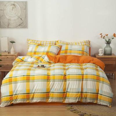 2021新款针织棉床品套件四件套 1.8床单款四件套 心情故事