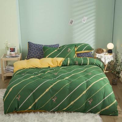 2021新款针织棉床品套件四件套 1.8床单款四件套 皇家卫士