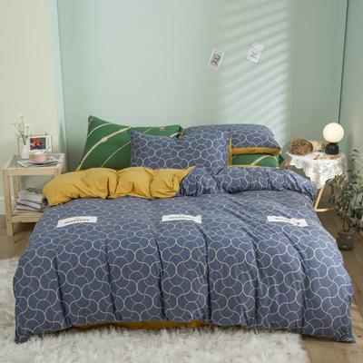 2021新款针织棉床品套件四件套 1.8床单款四件套 林间小鹿