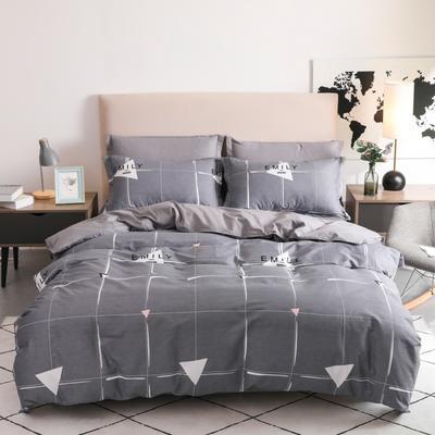 2019新款-全棉四件套 床单款三件套1.2m(4英尺)床 锦尚格-灰