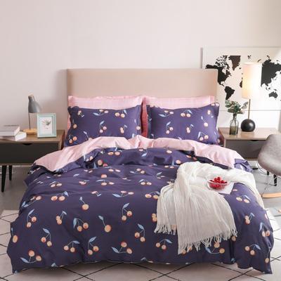 2019新款-全棉四件套 床单款三件套1.2m(4英尺)床 樱花皇后