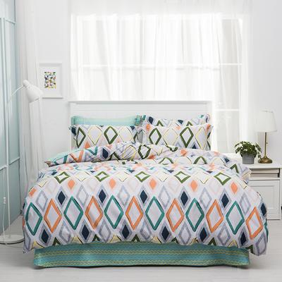 2019新款-全棉四件套 床单款三件套1.2m(4英尺)床 自由风尚