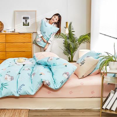 2019新款-12868全棉四件套 床单款1.8m(6英尺)床 小精灵