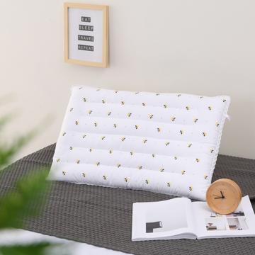 2019新款小蜜蜂低枕 枕头枕芯 成人酒店羽丝绒护颈枕头单人学生简约柔软枕芯低枕矮枕软枕