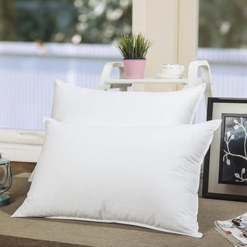 2019新款双压线羽丝绒枕 枕头枕芯全棉超柔双针简约成人单人护颈枕 软枕中低高枕
