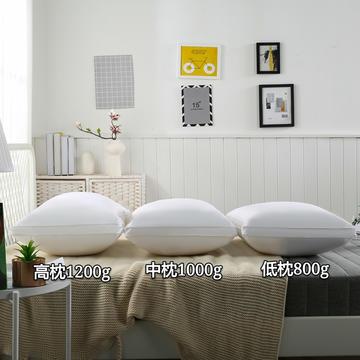 2020新款全棉立体羽丝绒枕 低枕中枕高枕-48*74cm/个