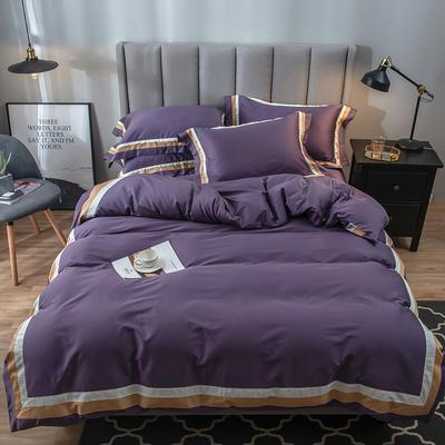 2019新款80s长绒棉拼接款宝莉四件套 1.5m(5英尺)床 宝莉紫