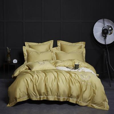 2019新款60长绒棉凯撒系列四件套 1.5m(5英尺)床 玉米黄