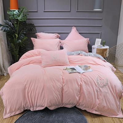 2019新款寶寶絨四件套 1.8m(6英尺)床單款 凱撒粉色