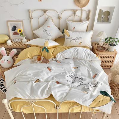 2020新款60S長絨棉四件套 1.5m(5英尺)床 可愛蘿卜