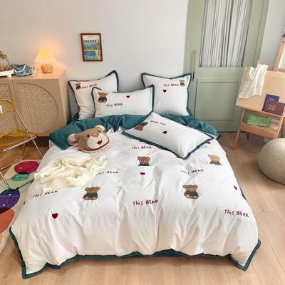 2020新款-水洗棉四件套 1.2m床单款三件套 Bear熊