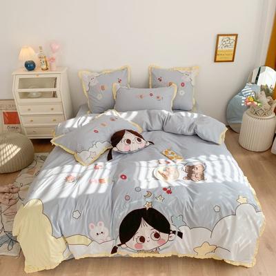 2021新款水洗棉卡通四件套 1.2m床单款三件套 小美好