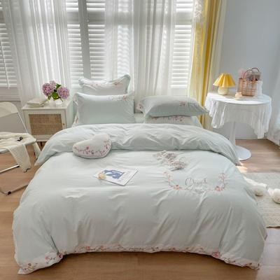 2021新款水洗棉卡通四件套 1.2m床单款三件套 樱桃
