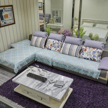 2019新款-富贵棉大花边沙发垫